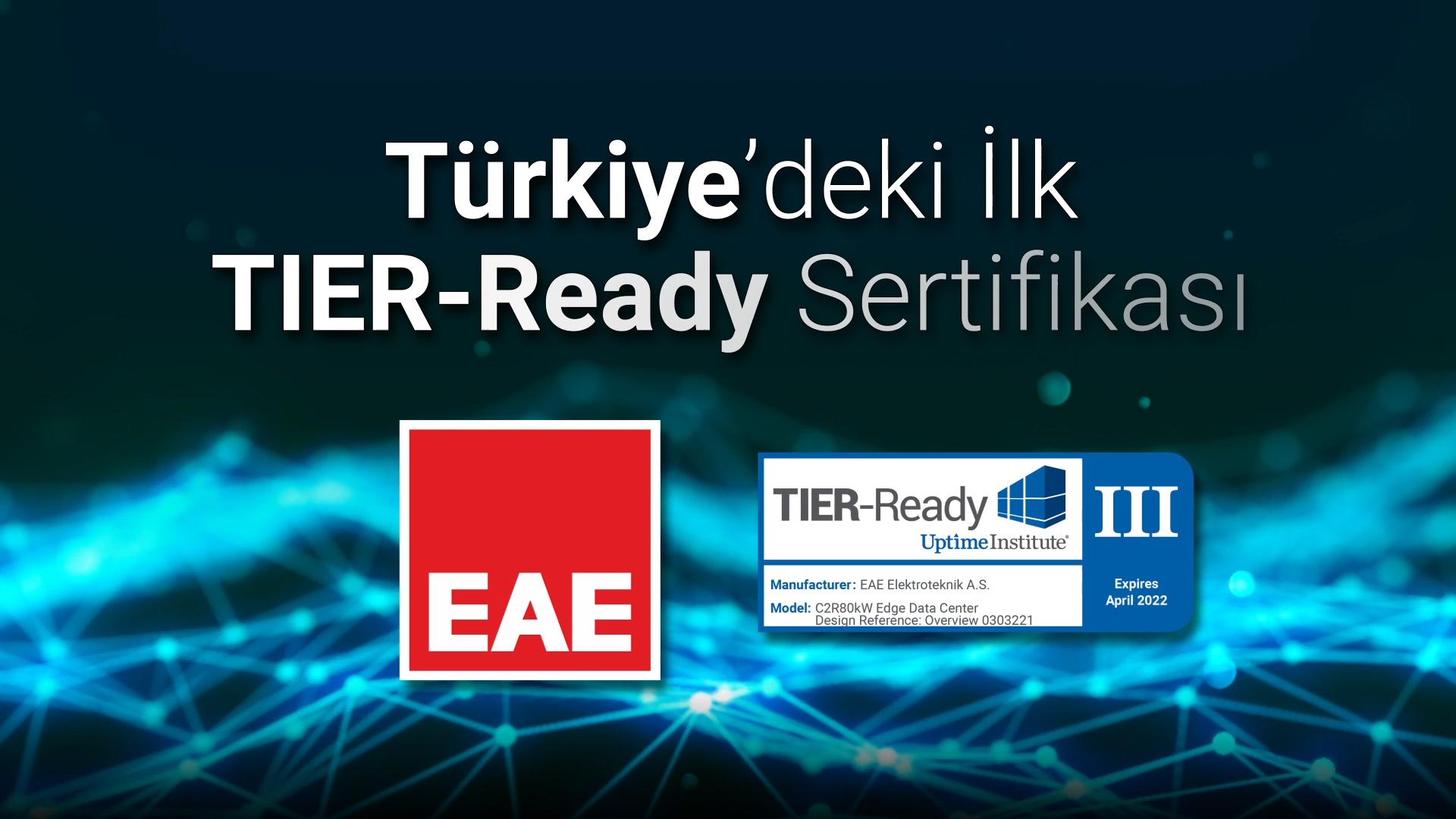 Türkiye'deki İlk TIER-Ready Sertifikası